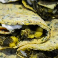 Chard and saffron frittata