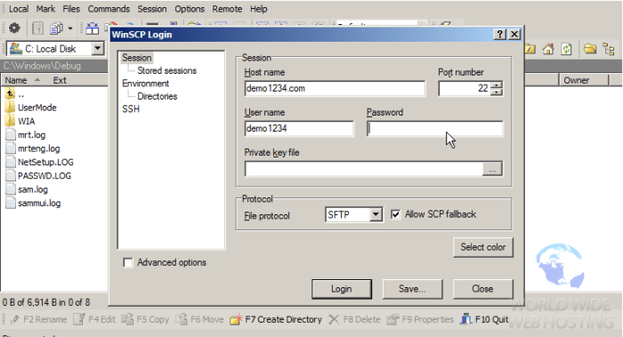 FTP How To Connect via WinSCP3