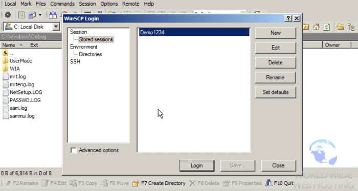 FTP How To Connect via WinSCP6