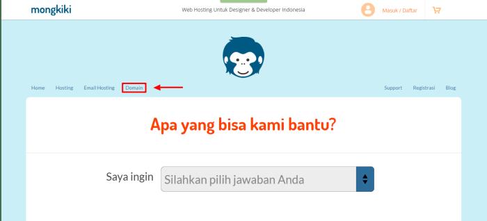klik domain