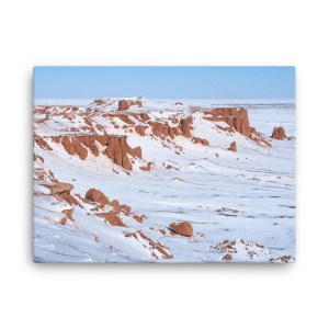 """Flaming Cliffs in Snow"" canvas wall art"