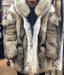 wolf fur coat