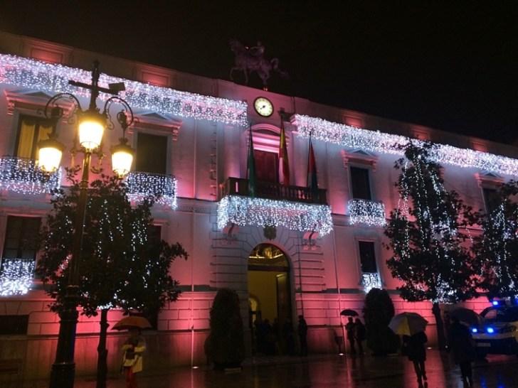 グラナダのクリスマスイルミネーション
