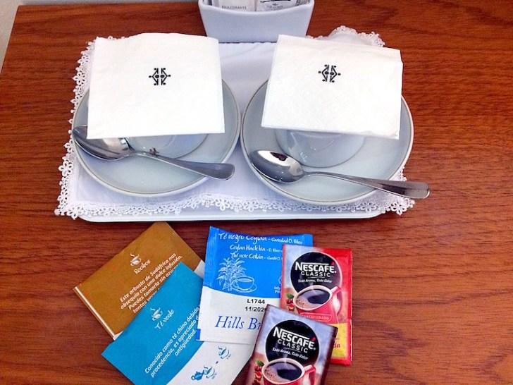 ネルハのパラドールのお茶とコーヒー