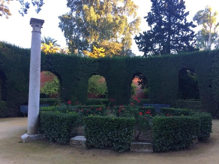 セビリアのアルカサルの庭園