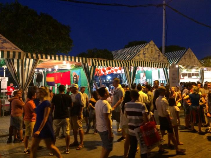 トリアナの夏祭りベラ・デ・サンタ・アナのカセタ