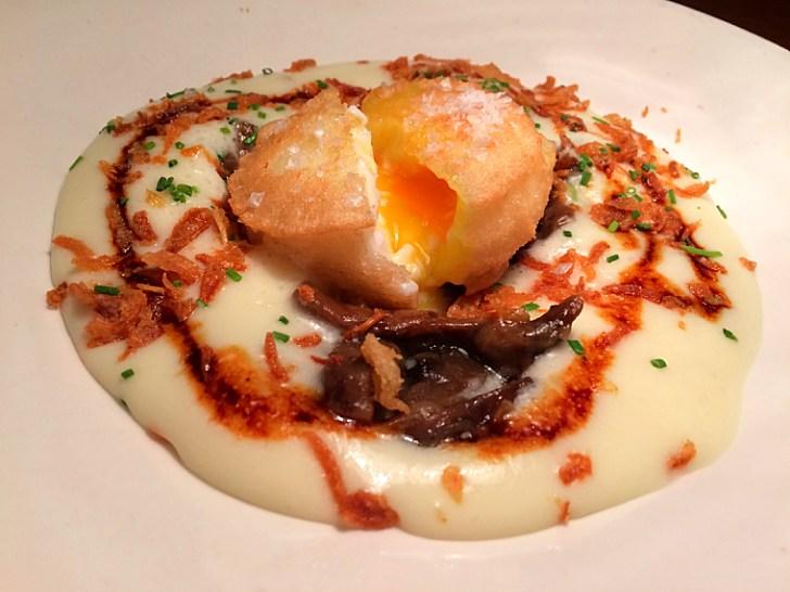 セビリアのバル「Antojo」の卵の天ぷら