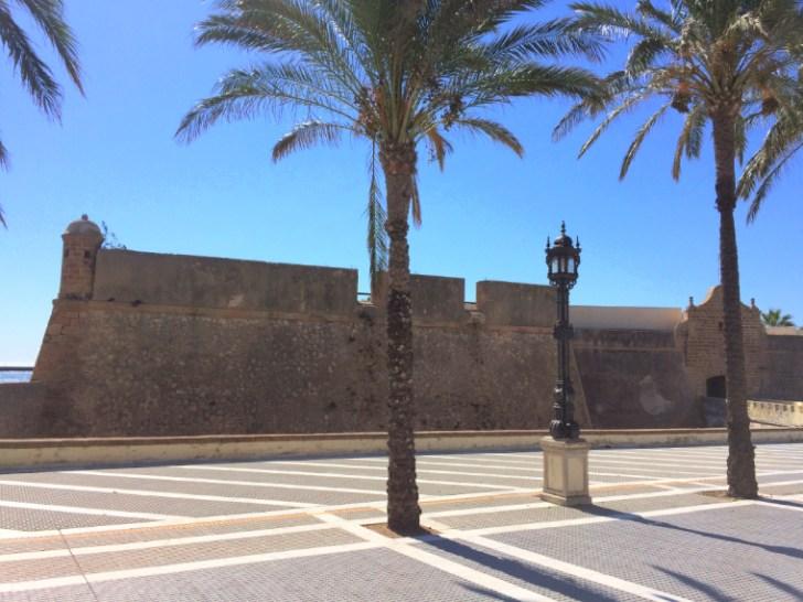 スペインのカディスにあるサンタ・カタリーナ城