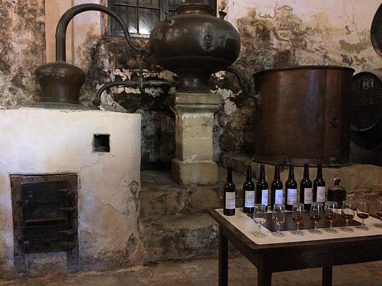 ヘレスのシェリー酒のボデガ見学のブランデー説明