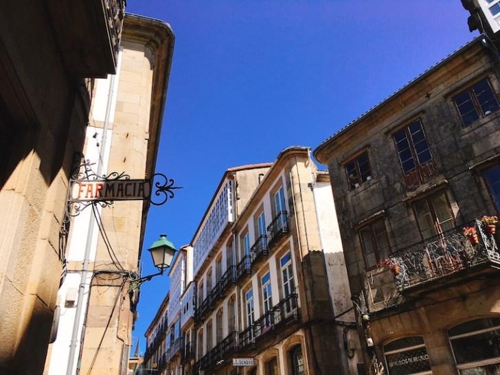 サンティアゴデコンポステーラの街並み