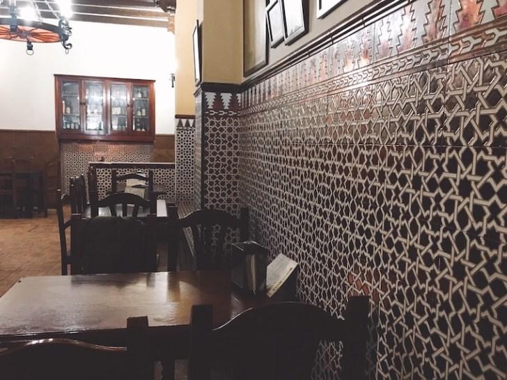 セビリアのボデガバル「bodega mateo ruiz」の店内