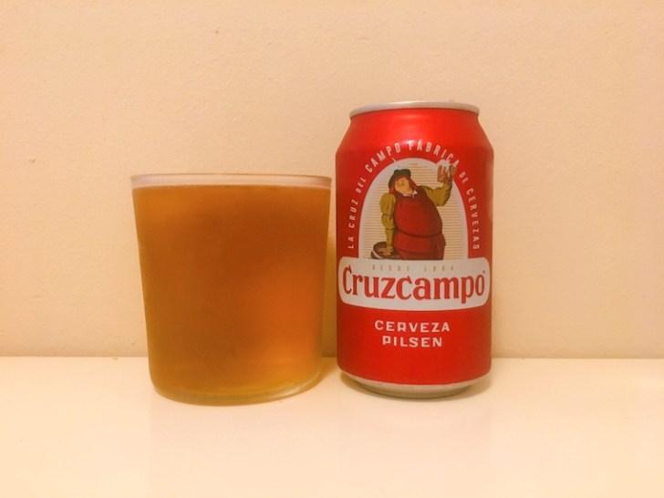 スペインの缶ビール クルスカンポ「Cruzcampo」