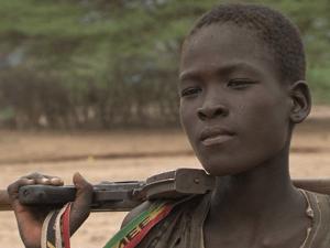 Twelve year old Lorunye Emekwe whose childhood innocence has been deprived of due to insecurity along the Kenya-Ethiopia border-Photo Mike Mulure