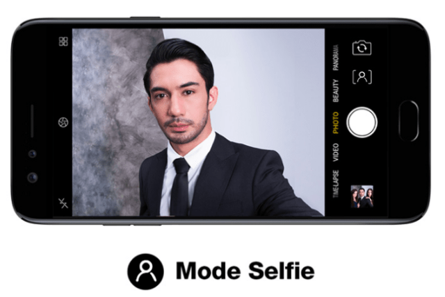 Mode Selfie OPPO F3 Reza Phone Limited Edition