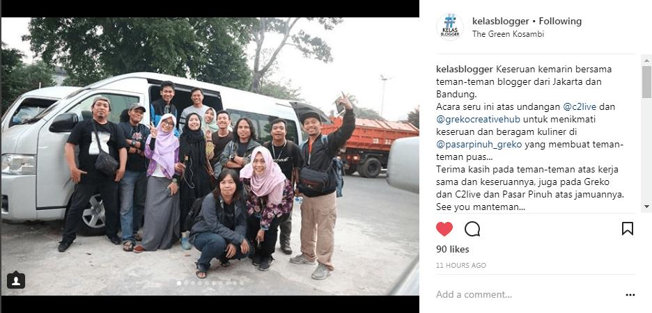 Kelas Blogger Ikutan Launching Tempat Nongkrong di Bandung Greko Creative Hub