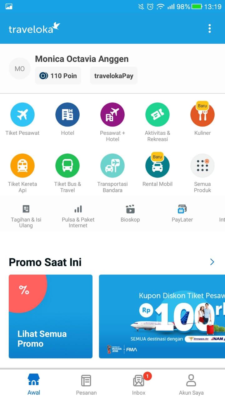 Aplikasi Traveloka