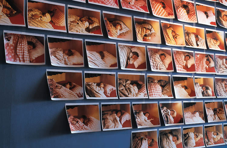 Instalación mural sobre dos muros, de 310 fotografías impresas a inyección de tinta