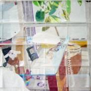 Díptico de 150 servilletas de papel coloreadas a mano.