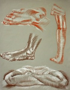 feet figure drawing practice