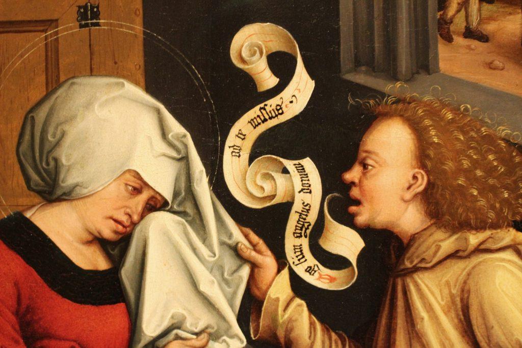 oil paint renaissance annunciation-strigel