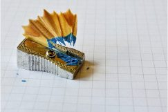 as the crow flies review colored pencil sharpener and shaving
