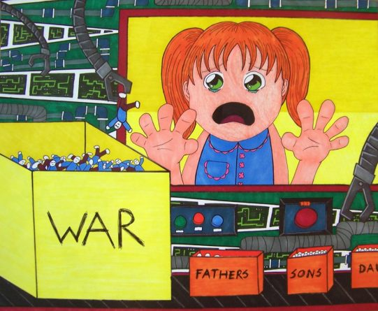 4th of July War Art Make it stop