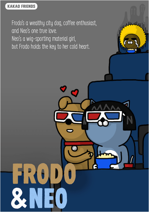 Kakao Friends Frodo and Neo