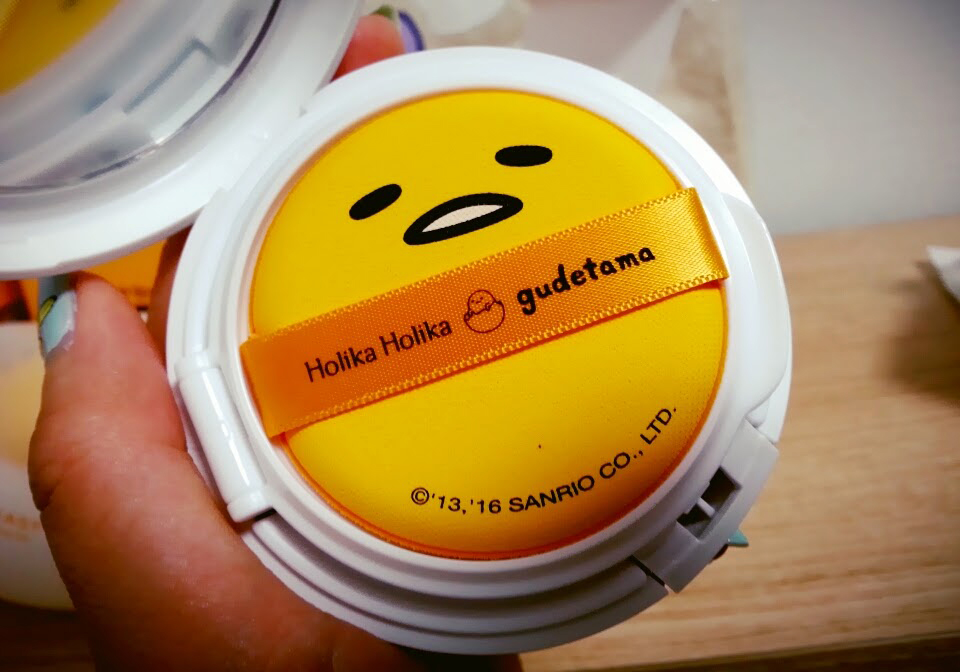 Holika Holika BB cushion with Gudetama face