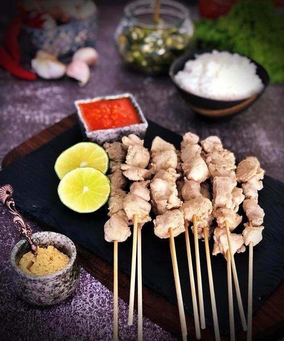 Sambal Sate Taichan : sambal, taichan, Taichan, Indonesian, Plain, White, Chicken, Satay, Making, Memories, Every