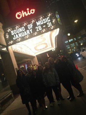 8. Girls outside theater