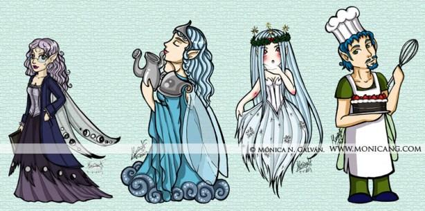 Luna, Lluvia, Nieve y Dulce