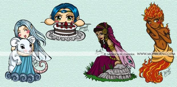 Agua, Flora, Princesa, Sol