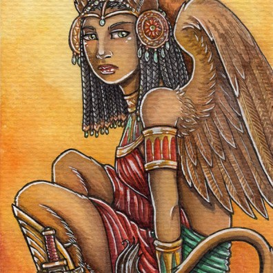 warrior_sphinx_watercolor-res
