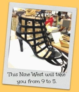Nine West_strappy blk cage