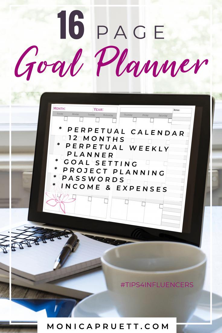 16 Page Goal Planner MonicaPruett