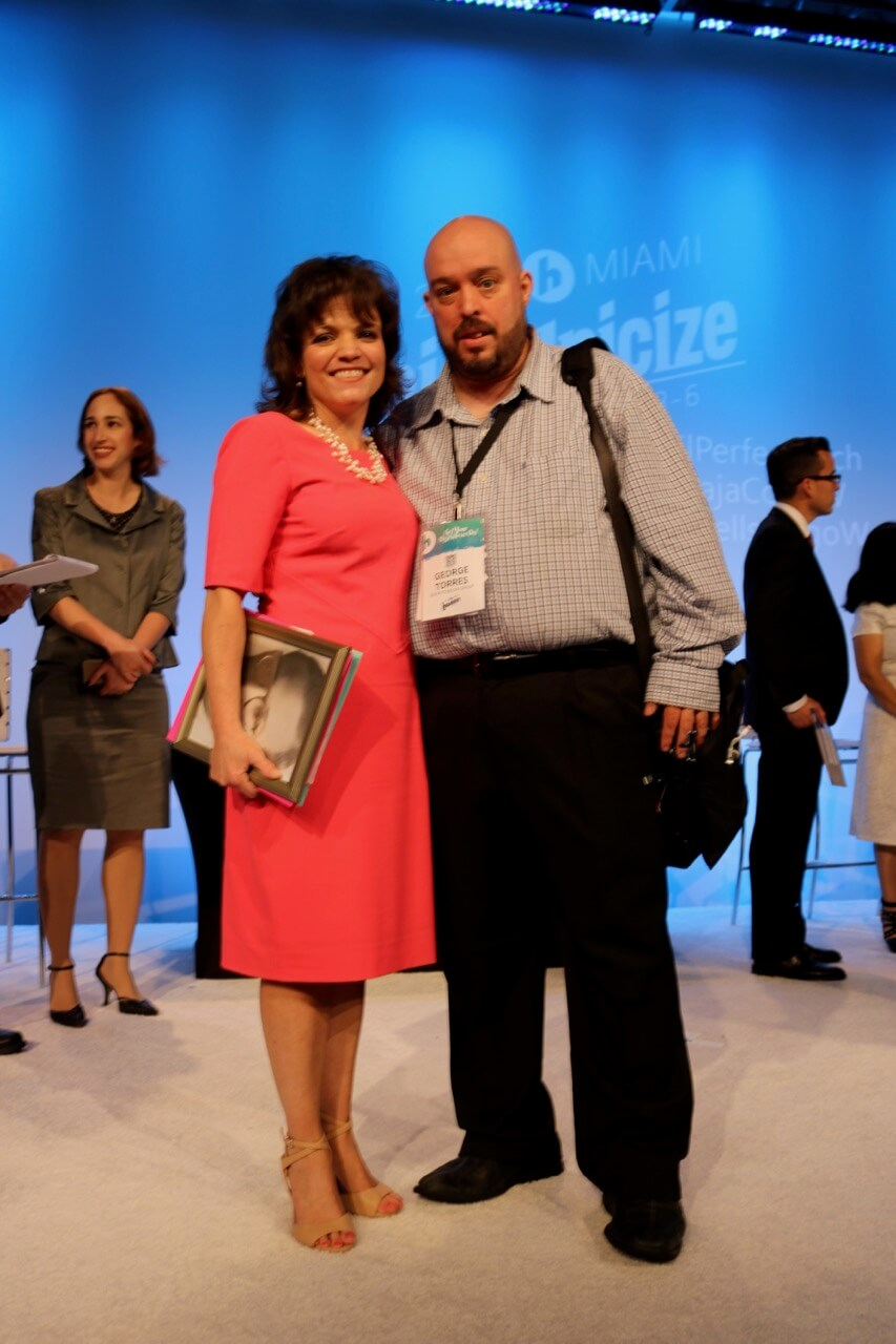 ElPerfectPitch organizer George Torres with Monica Pruett from Visual Montessori at Hispanicize 2017