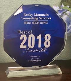 2018 Mental health award Rocky Mountain Counseling