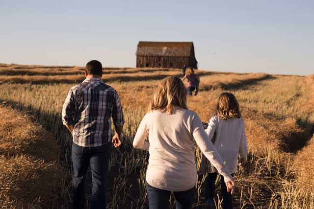 Family walking in fields - Family Therapy counseling