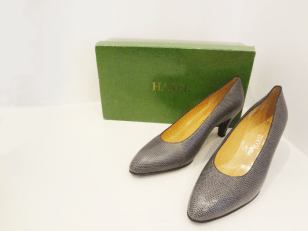 Vintage, custom made snakeskin heels from Harel boutique in Paris - $149