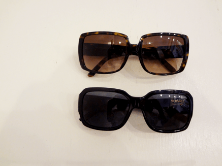 Burberry sunnies - $150, Versace sunnies - $122