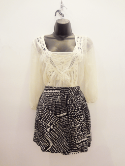 Daniel Irainn Top -$29, XXI Skirt -$15