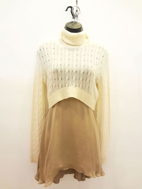 Christopher Pischer Ivory Cropped Sweater $49.00 - Donna Mizani Black/Beige Dress $49.00