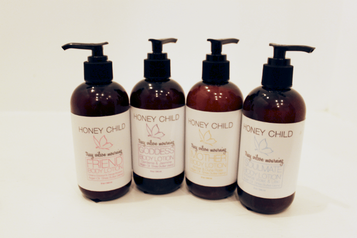 """Honey Child Body Lotion in """"Friend"""", """"Goddess"""", """"Mother"""", and """"Soulmate"""""""