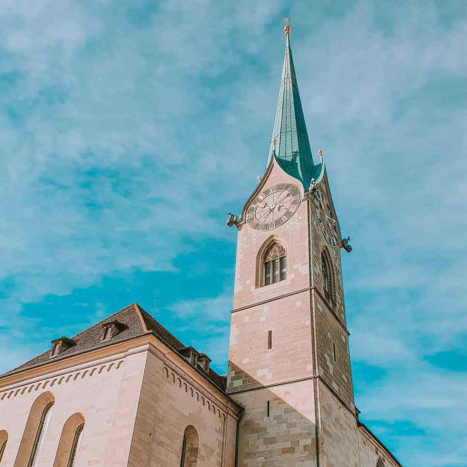 Fraumünster Church in Zurich's Scenic Old Town