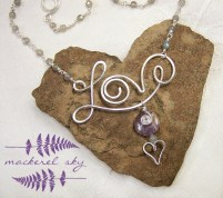 Love. Sterling silver, amethyst, and labradorite. 2013.