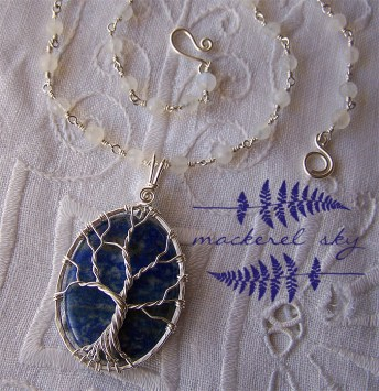 Tree. Sterling silver, lapis lazuli and moonstone. 2013