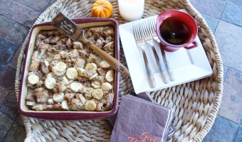 Easy (and healthy) Baked French Toast with Bananas