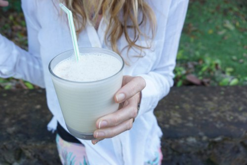 Three favorite protein smoothies (without fruits or vegetables.)