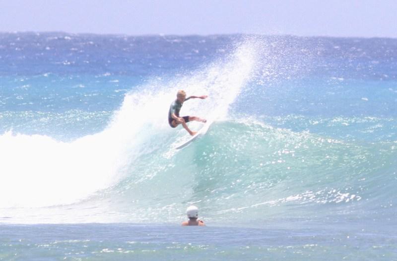 Luke surfing Ala Moana