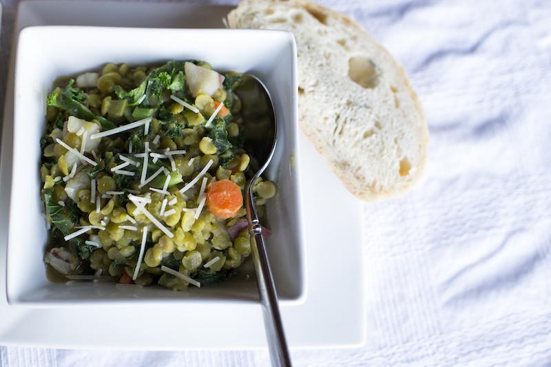 veggie split pea soup